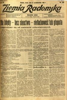 Ziemia Radomska, 1934, R. 7, nr 250