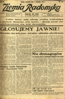 Ziemia Radomska, 1934, R. 7, nr 253