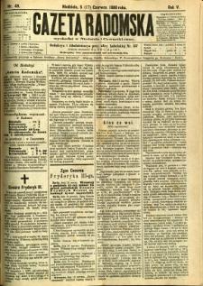 Gazeta Radomska, 1888, R. 5, nr 49