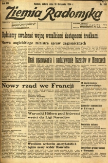 Ziemia Radomska, 1934, R. 7, nr 258