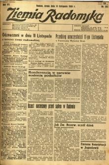 Ziemia Radomska, 1934, R. 7, nr 261