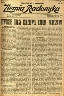 Ziemia Radomska, 1934, R. 7, nr 272