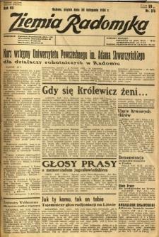 Ziemia Radomska, 1934, R. 7, nr 275
