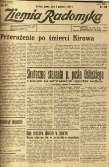 Ziemia Radomska, 1934, R. 7, nr 279
