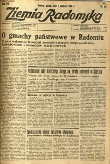Ziemia Radomska, 1934, R. 7, nr 281