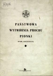 Państwowa Wytwórnia Prochu Pionki (Pow. Kozienice)