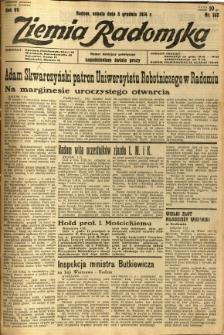 Ziemia Radomska, 1934, R. 7, nr 282
