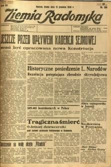 Ziemia Radomska, 1934, R. 7, nr 284