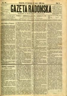 Gazeta Radomska, 1888, R. 5, nr 54