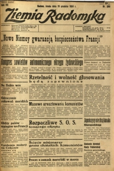 Ziemia Radomska, 1934, R. 7, nr 290