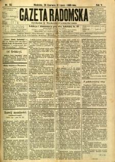 Gazeta Radomska, 1888, R. 5, nr 55