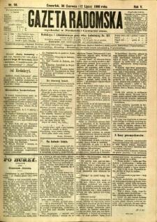 Gazeta Radomska, 1888, R. 5, nr 56