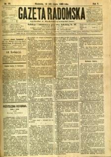 Gazeta Radomska, 1888, R. 5, nr 59