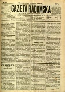 Gazeta Radomska, 1888, R. 5, nr 63