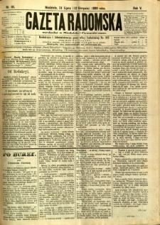 Gazeta Radomska, 1888, R. 5, nr 65