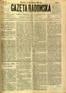 Gazeta Radomska, 1888, R. 5, nr 70