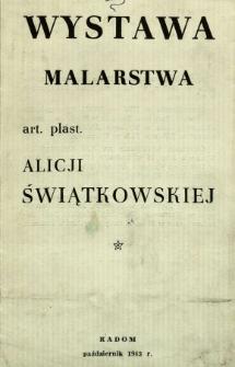 Wystawa malarstwa art. pl. Alicji Świątkowskiej