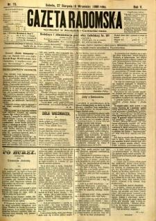 Gazeta Radomska, 1888, R. 5, nr 73