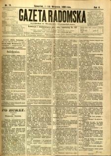 Gazeta Radomska, 1888, R. 5, nr 74