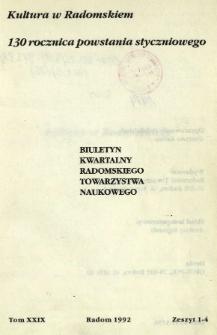 Biuletyn Kwartalny Radomskiego Towarzystwa Naukowego, 1992, T. 29, z. 1-4