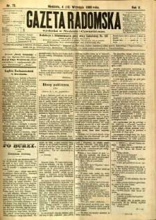 Gazeta Radomska, 1888, R. 5, nr 75