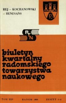 Biuletyn Kwartalny Radomskiego Towarzystwa Naukowego, 1988, T. 25, z. 1-4