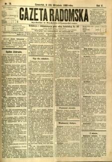 Gazeta Radomska, 1888, R. 5, nr 76