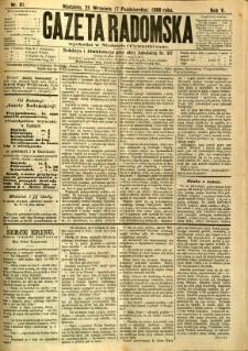Gazeta Radomska, 1888, R. 5, nr 81