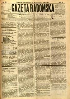 Gazeta Radomska, 1888, R. 5, nr 82