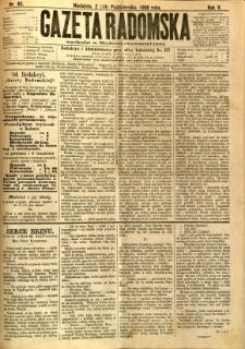 Gazeta Radomska, 1888, R. 5, nr 83