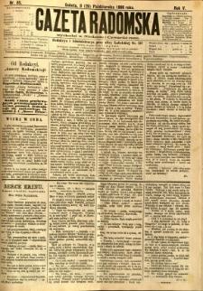 Gazeta Radomska, 1888, R. 5, nr 85