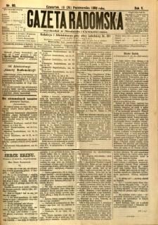 Gazeta Radomska, 1888, R. 5, nr 86