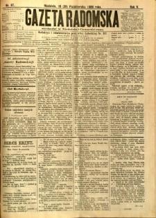Gazeta Radomska, 1888, R. 5, nr 87