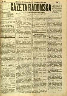 Gazeta Radomska, 1888, R. 5, nr 91