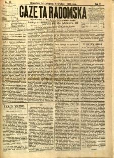 Gazeta Radomska, 1888, R. 5, nr 98