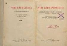 Pisma Ojców Apostolskich : nauka dwunastu apostołów - Barnaba Klemens Rzymski - Ignacy Antjocheński Polikarp - Hermas