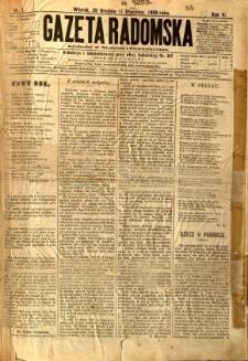 Gazeta Radomska, 1889, R. 6, nr 1