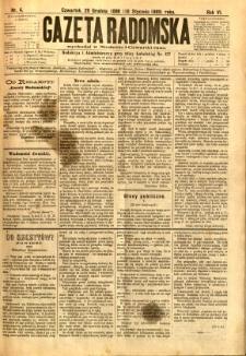 Gazeta Radomska, 1889, R. 6, nr 4