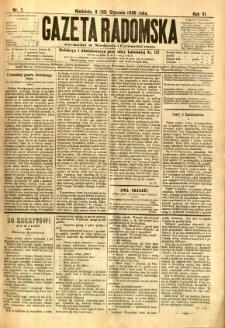 Gazeta Radomska, 1889, R. 6, nr 7