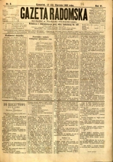 Gazeta Radomska, 1889, R. 6, nr 8