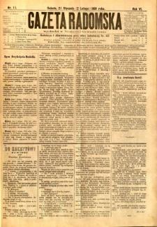 Gazeta Radomska, 1889, R. 6, nr 11