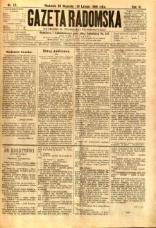 Gazeta Radomska, 1889, R. 6, nr 13