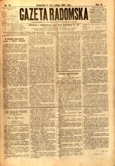 Gazeta Radomska, 1889, R. 6, nr 14