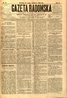 Gazeta Radomska, 1889, R. 6, nr 21
