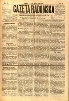Gazeta Radomska, 1889, R. 6, nr 25
