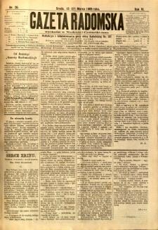 Gazeta Radomska, 1889, R. 6, nr 26