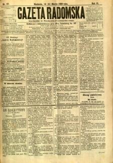 Gazeta Radomska, 1889, R. 6, nr 27