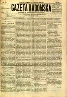 Gazeta Radomska, 1889, R. 6, nr 28
