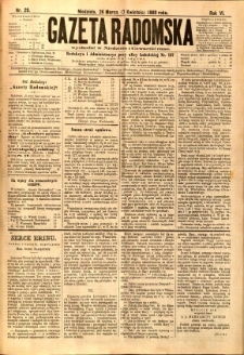 Gazeta Radomska, 1889, R. 6, nr 29