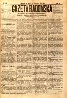 Gazeta Radomska, 1889, R. 6, nr 30